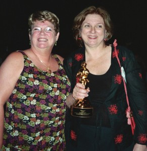 Jaqueline Floyd and Jennifer Crusie at the 2005 RWA Awards Celebration