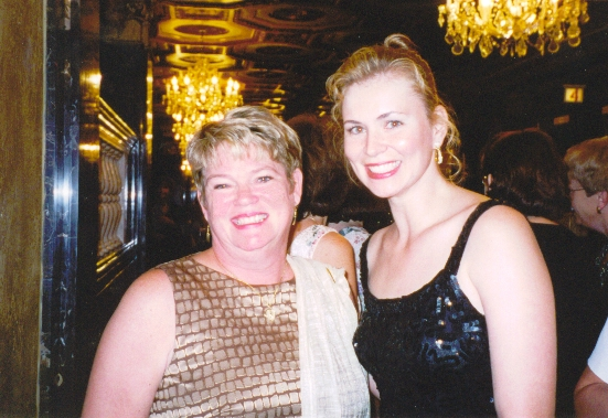 Jacqueline Floyd with Joanne Rock at the 2001 RWA National Conference
