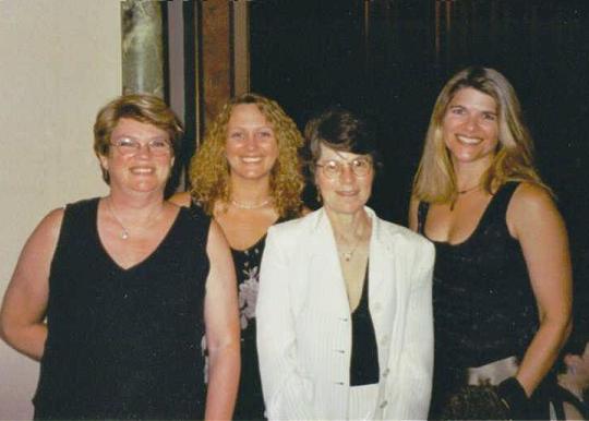 Jacqueline with Misti Adams-Barnes, Mary Lennox, and Jenn Stark following the Rita and Golden Heart ceremonies.